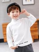 左西男童打底衫半高領秋冬2019新款兒童長袖t恤中大童洋氣潮冬裝