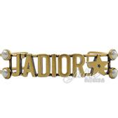 茱麗葉精品【全新現貨】Christian Dior J'ADIOR 復古LOGO珠珠造型手環.金