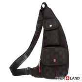 OVERLAND - 美式十字軍 - 美式潮酷格紋彎月斜背包 - 2852