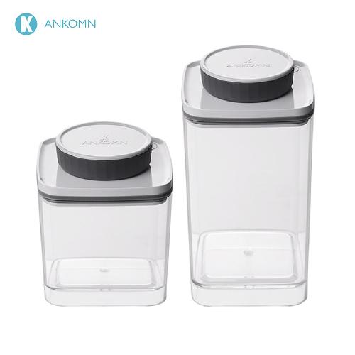 《ANKOMN》Turn-N-Seal 真空保鮮盒 1.2L + 0.6L 二件組