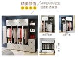 衣櫃衣櫃簡易組裝塑料布衣櫥租房省空間仿實木板式簡約現代經濟型櫃子
