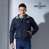 Emilio Valentino范倫鐵諾經典防風鋪棉保暖外套(丈青)