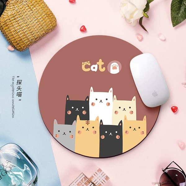 滑鼠墊小號可愛女生卡通動漫加厚大號定制訂做游戲電腦筆記本桌墊 韓國時尚週 免運