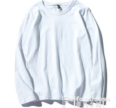 寬鬆長袖T恤純棉男女軍綠色t恤秋季新款寬鬆韓版初冬長袖上衣學生情侶打底衫 新年禮物