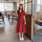 洋裝 遮肚顯瘦大碼女裝微胖妹妹網紅減齡200斤洋氣連身裙DJB01依佳衣