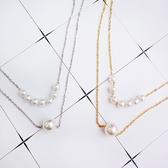 珍珠 拼接 鎖骨鏈 個性 簡約 短款 項鍊【DD1806003】 ENTER  10/04