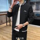 春季夾克男新款韓版潮流休閒青少潮牌短款外套男士長袖上衣 快速出貨