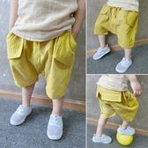 兒童棉麻短褲夏裝七分褲1-3-5歲寶寶外穿LJ3411『夢幻家居』