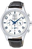 日本精工SEIKO手錶 三眼計時皮帶男錶 SPC155 男錶 石英錶   原廠保固兩年