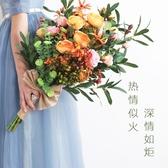 森系手捧花花球仿真花束婚禮佈置用品擺件婚紗攝影 瑪奇哈朵