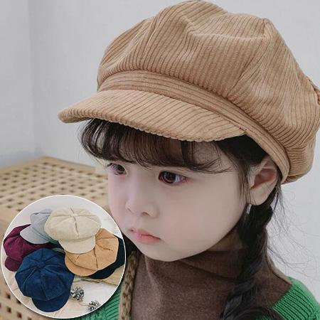 【童】燈蕊絨坑紋報童帽 絨面貝蕾帽八角帽鴨舌帽 6色【E297497】
