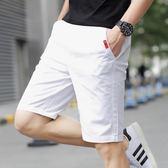 短褲五分短褲男夏天休閒七分中褲子男士沙灘褲夏季寬鬆運動大褲衩薄潮 魔方數碼館