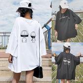 加肥加大尺碼200斤胖mm夏季韓製卡通印花寬鬆短袖T恤學生半袖上衣女 XL-3XL 限時八五折