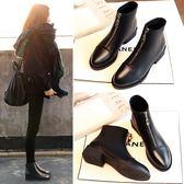 短靴 女平底復古馬丁靴女英倫風及裸靴切爾西靴子女靴單靴