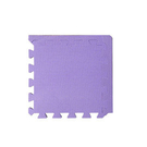 【新生活家】柔彩地墊附邊條8入-紫