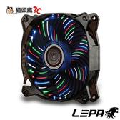 【貓頭鷹3C】LEPA 彩花豹Vortex 4色LED燈12公分發光風扇(LPVC88C4C12P)
