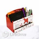 ﹝美樂蒂45週年筆筒收納盒﹞正版 筆筒 收納盒 置物盒 木櫃 文具 手機架〖LifeTime一生流行館〗