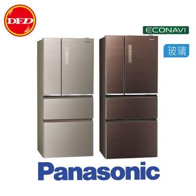 PANASONIC 國際 NR-D610NHGS 變頻 4門 無邊框玻璃 冰箱 610L 翡翠金 / 翡翠棕 *運費另計 公司貨