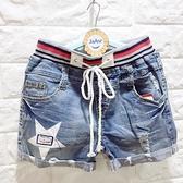 ☆棒棒糖童裝☆(A98552)夏女大童星星款牛仔短褲  120-170