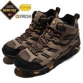 Merrell 戶外鞋 Moab 2 Mid GTX Wide 咖啡 黑 Vibram 大底 高筒 男鞋 健行 登山鞋 【PUMP306】 ML06057W