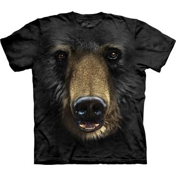 【摩達客】 (預購) 美國進口【The Mountain】自然純棉系列 黑熊臉 設計T恤(10411045018a)