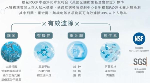 【SAKURA 櫻花】即濾即飲RO濾水器淨水器 P0230 北北基含原廠標準安裝