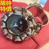 鑽錶-潮流典型造型女手錶2色5j102[巴黎精品]