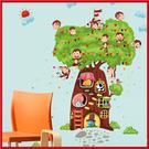 創意壁貼--猴子樹屋(2張入) SK2009AB-998【AF01013-998】i-Style居家生活