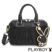 PLAYBOY- 2WAY手提包 Charming Black 魅力墨黑系列-黑色