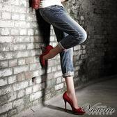 Victoria 豹紋繡B.F褲-女-中藍