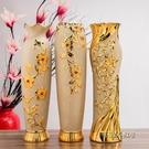 60cm 落地陶瓷大花瓶 歐式花瓶擺件大號客廳電視櫃玄關金色插花MBS「時尚彩紅屋」