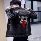 男士牛仔外套2020年新款春秋季韓版潮流秋裝男裝休閒牛仔上衣夾克「時尚彩紅屋」