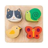 【美國Tender Leaf Toys】可愛動物益智拼圖(感官啟蒙學習教具)
