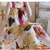 睡裙女夏季薄款吊帶加肥加大碼胖mm200斤女士睡衣裙子夏天【CH伊諾】