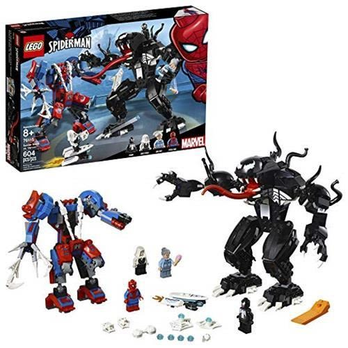 LEGO 樂高 6251077 Marvel Spider Mech Vs. Venom 76115 Building Kit (604 Piece), Multicolor