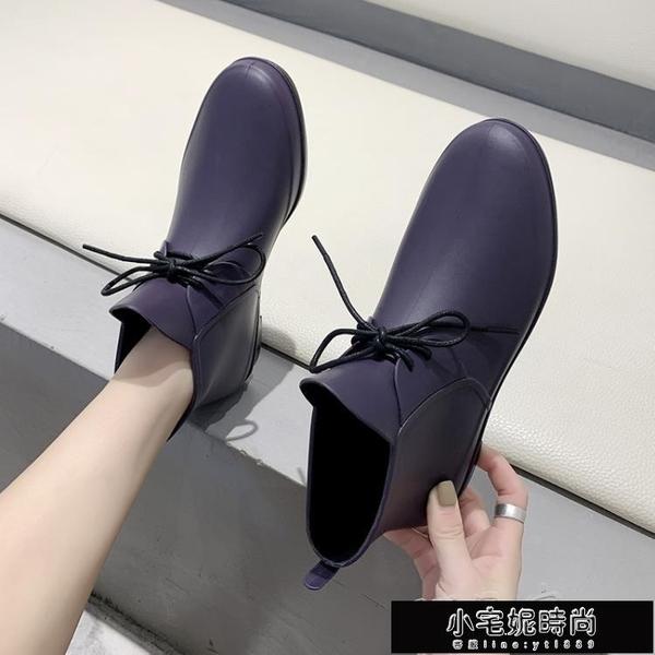 雨鞋 韓版時尚雨鞋女短筒雨靴低筒水鞋買菜防水廚房膠鞋防滑餐廳工作鞋 小宅妮