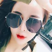 新款時尚太陽鏡女韓版潮復古原宿風墨鏡網紅眼鏡圓臉     韓小姐