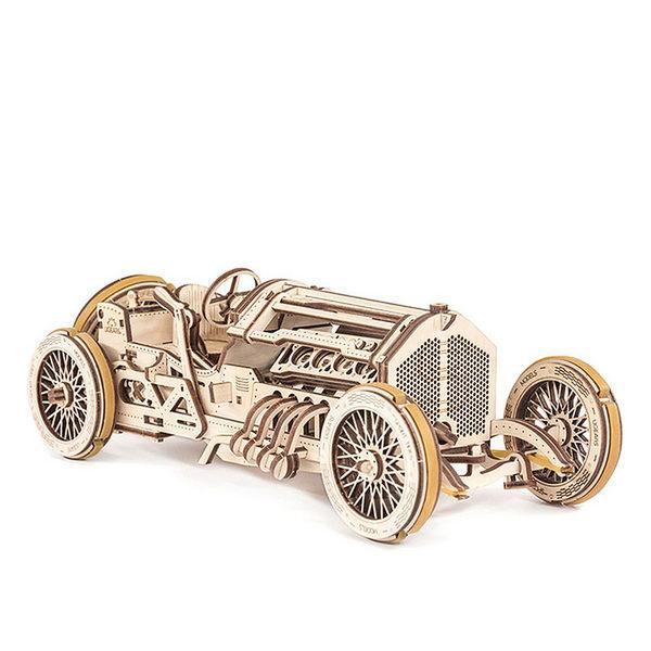 Ugears 自我推進模型 - 格蘭披治賽車 U-9 Grand Prix Car - 來自烏克蘭.橡皮筋動力.機械驚奇 ! 科學玩具