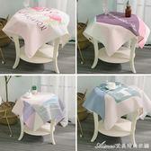 北歐簡約棉麻餐桌布正方形圓形桌布方桌茶幾小臺布方巾床頭櫃蓋布艾美時尚衣櫥