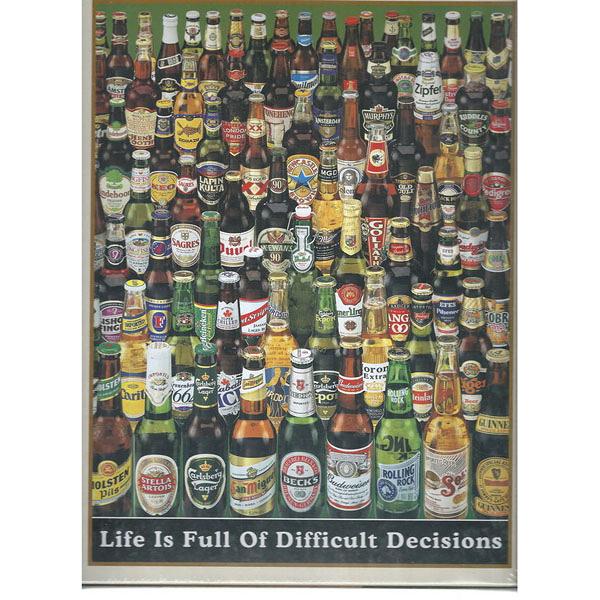 【台製拼圖】夜光-啤酒瓶 Life is Full of Difficult Decisions (1000片) 1000-215