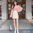皮裙短款 小皮裙新款半身裙a字裙短裙季女氣質包裙高腰一步包臀裙 快速出货