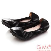 G.Ms. 牛漆皮拼接羊皮娃娃鞋*黑色