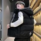 潮流時尚日系簡約圖紋造型百搭保暖加厚背心外套