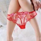 L'amour奢華-女丁字褲 透明刺繡性感內褲女純棉襠【LET_3026】