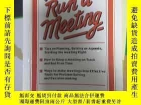 二手書博民逛書店罕見~ How to Run a Meeting 9788183