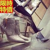 短靴 高跟女靴子-新款氣質性感精品休閒2色66c4【巴黎精品】