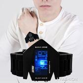 戰斗機手錶防水運動手錶多功能帶秒錶鬧鐘錶 果凍兒童時尚情侶錶 Ifashion