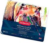 [COSCO代購] W133679 Derwent 德爾文精選水性色鉛組24入鐵盒裝