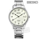 SEIKO 精工 / 7N42-0FW0W.SGEH73P1 / 雅緻簡約藍寶石水晶防水不鏽鋼手錶 米白色 40mm