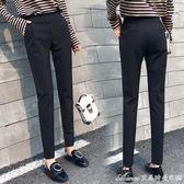 哈倫褲女春秋黑色褲子香蕉褲夏薄款九分褲高腰小腳休閒西裝褲長褲艾美時尚衣櫥